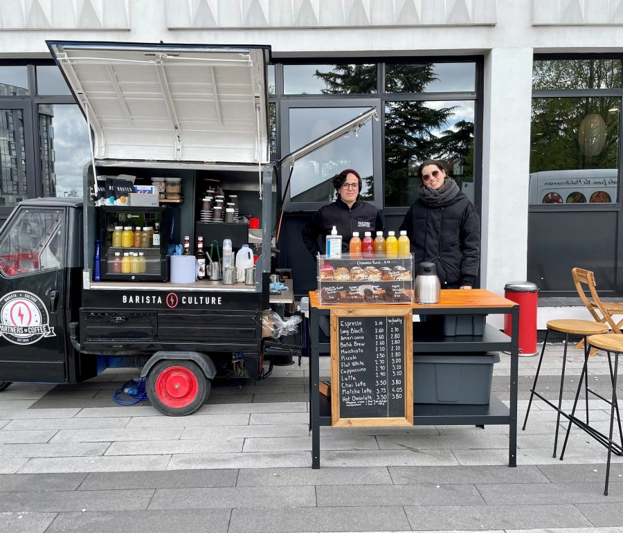 SPECIALITY COFFEE VAN FOR WHITE BUILDING & LATIMER HOUSE, SOUTHAMPTON